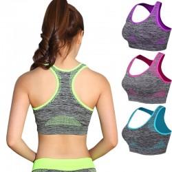Odporny na wstrząsy biustonosz fitness z push up - usztywniany top