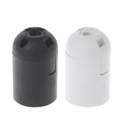 CE approved - E27 - Plastic Lamp - Black - White