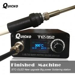 Stacja lutownicza - lutownica cyfrowa - szybkie nagrzewanie - T12 - wyświetlacz OLED STC T12