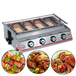 Barbecue Grill - Outdoor - Grill - Stainless Steel - Glass - Yellow
