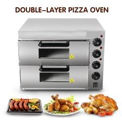 Elektroofen - für pizza / huhn / brot - edelstahl - zweischichtig
