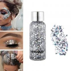 Ciekły brokat - makijaż żelowy - cień do powiek - szminka