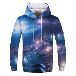 Colourful hoodie with 3D print