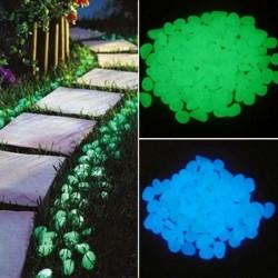 25 Stück / 50 Stück - im Dunkeln leuchtende Gartenkiesel