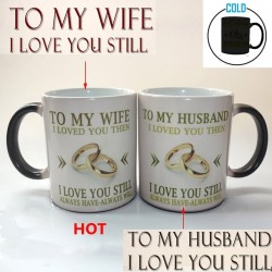 To My Wife / To My Husband - Temperatur Farbbecher - 350 ml
