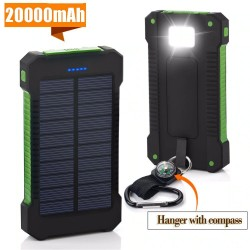 20000mAh solarbetriebene Power Bank - Dual USB - wasserdicht - externe Batterie