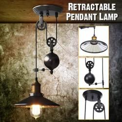 E27 - black vintage lamp - retractable adjustable length