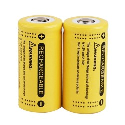 3.7V 1200mAh - CR123A/16340 li-ion battery - rechargeable 4 pieces