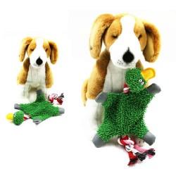 32 * 19cm - Plüschente - Spielzeug mit Seil für Hunde / Katzen