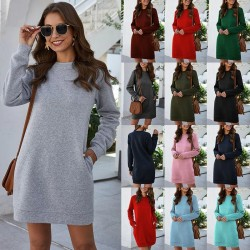 Long sleeve sweatshirt - mini dress