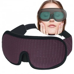3D Sleeping Mask - Soft Padded - Black - Purple