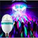 E27 roterende RGB LED licht discolamp Sound Activation