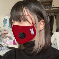 Face Mask - Washable - Black - Blue - Red