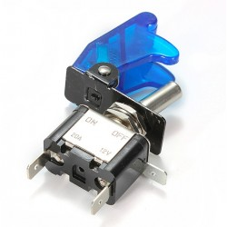 12V 20A - LED SPST toggle rocker switch with cover