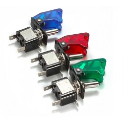 12v LED SPST Toggle Rocker Switch With Cover