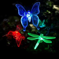 Solar - LED - Außen- / Garten dekoratives Licht - Schmetterling - Libelle - Vogel