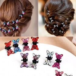 12 Pcs/Set - Small Butterfly - Crystal - Hair Clip