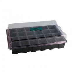 Seeds germination tray - 24 cells - with lids / breather hole - 3 pieces
