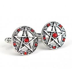 Antike Manschettenknöpfe - Pentagramm & Kristalle
