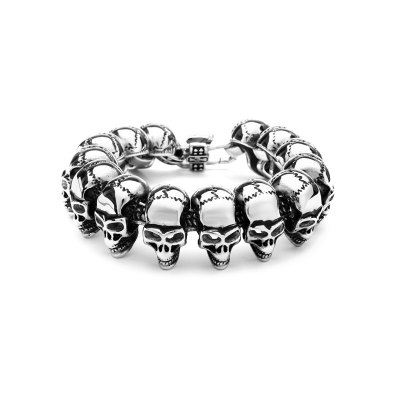 316L Stainless Steel Skull Gothic Men Bracelet