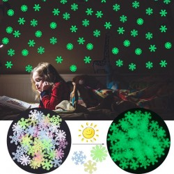 Luminous Christmas snowflakes - wall sticker - 50 pieces