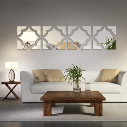 3D modern acrylic mirror - wall sticker