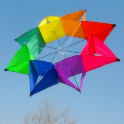 Five-pointed star - colourful kite