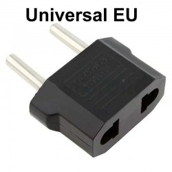 Amerikaanse platte stekker naar EU ronde stekker adapter - reisstekker