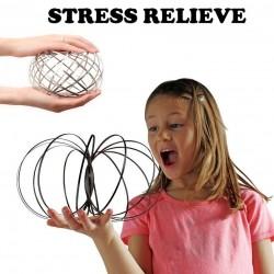 Strömungsring - kinetische Feder - zappeliger Spinner - Metall-Anti-Stress-Spielzeug