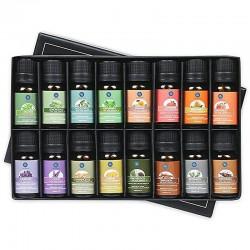 Ätherische Öle für Diffusor / Luftbefeuchter / Massage / Aromatherapie - 10 ml - 16 Stück