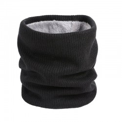 Écharpe ronde chaude en tricot avec peluche - Unisexe