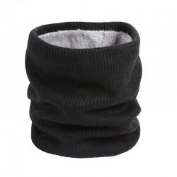 Gestrickter warmer runder Schal mit Plüsch - Unisex