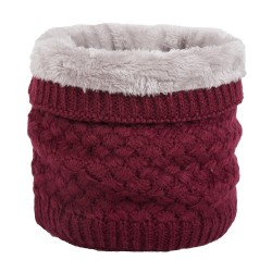 Bufanda cálida de punto redonda - unisex