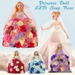 Prinzessin Puppe aus unendlichen Rosen mit LED-Licht