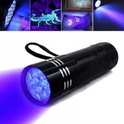 Mini - UV - 9 LED - Flashlight - Waterproof