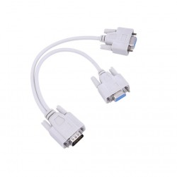 VGA SVGA - 1 a 2 monitores - macho a 2 doble hembra Y - 15 pines - adaptador - cable divisor