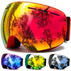 Ski goggles - anti-fog - UV protection - interchangeable lens - unisex