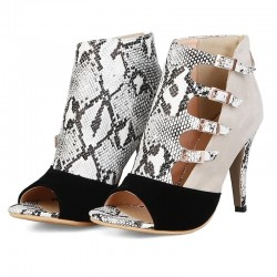 Gladiator sandals - high heel pumps - with buckles - ankle length