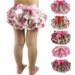 Baby shorts with ruffles - skirt - colourful diaper cover