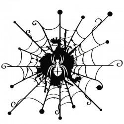 Spider web - vinyl - decal - black -silver - car sticker