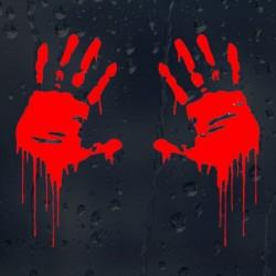 Zombie bloody hands - vinyl car sticker