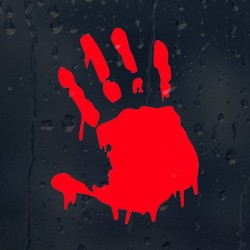 Blutige Hand - Vinyl Autoaufkleber