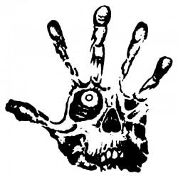 Skull eye - fingers - zombie hand - vinyl car sticker