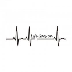 Life Goes On / heartbeat - vinyl car sticker