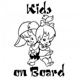 Kids On Board - Vinyl-Autoaufkleber