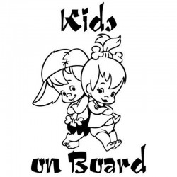 Kids On Board - vinyl car sticker