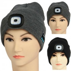 Bluetooth 5.0 - Wireless Smart Hat - Kopfhörer - Headset mit 4 LEDs