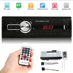 Bluetooth car radio - 1Din - USB - RCA - FM - MP3 - AUX-input - with remote control