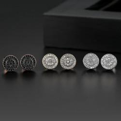 Elegant - kleine runde Kristallohrstecker