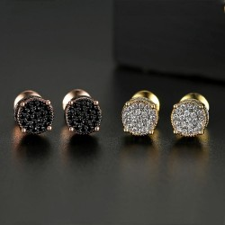 Luxurious round crystal earrings